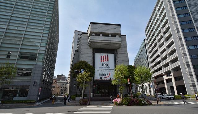東京証券取引所の外観(中央区日本橋兜町)