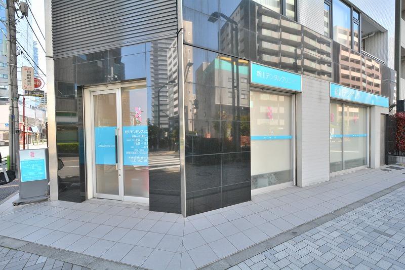 ウィルローズ東京ラルーナの一階にある新川デンタルクリニック