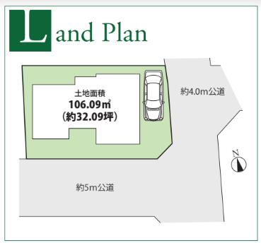 深大寺元町新築戸建の土地区画図