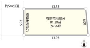美住町1丁目売地の区画図/株式会社slope